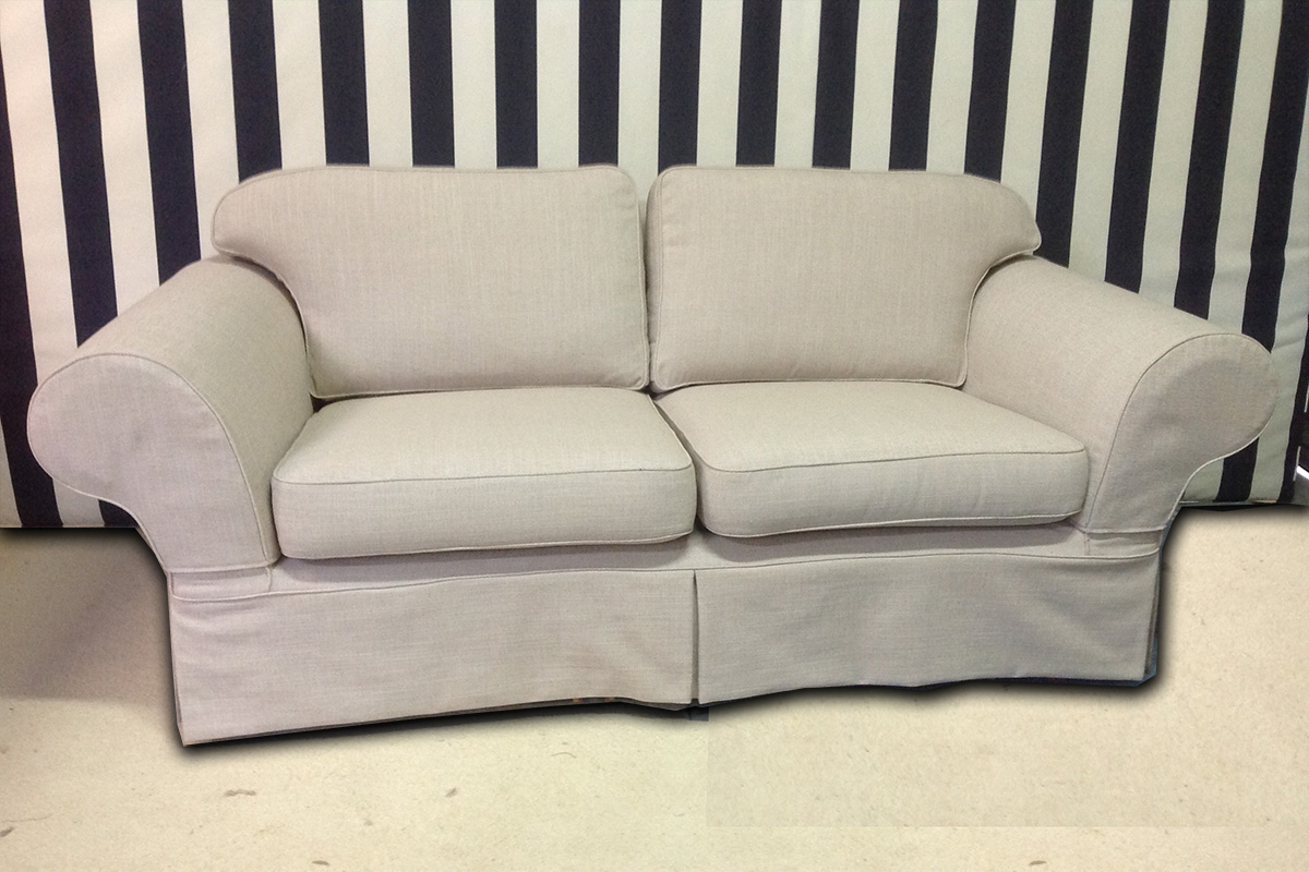tailored slip cover for lounge chair